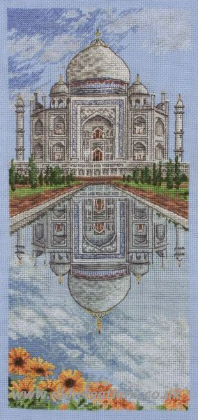 The Taj Mahal Cross Stitch Kit